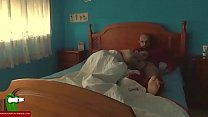 Hot couple fucking on the king bed IV 014