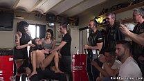 Mistress ties up hot Euro brunette slave Melody...