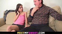 Old couple and his teen gf threesome orgy
