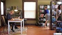 Hot Librarians Having Under Desk Session Then B...