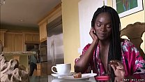 Black husband Eddie Jaye caught ebony wife Ana ...