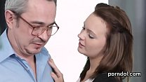 Cuddly schoolgirl was seduced and drilled by he...