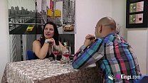 Clara and Diego sex session in a FAKings diner