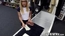 Skinny babe smashed in the pawnshop