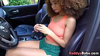 Ebony daughter let's stepdad finger for buying ...