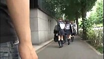 Japanese schoolgirl perved in a bus Thumbnail