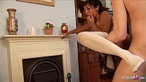 Brown Maid blackmail to Sloppy Deepthroat and S...