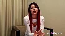 Brunette Latina teen enjoys great sex with an e...
