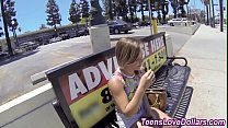 Busty reality teenager gets cash for pov fuck a...