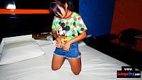 Tiny Thai teen amateur taken home from a GOGO b...