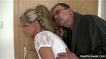 Teen and Milf fucked by old fat guy