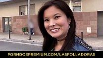 LAS FOLLADORAS - Natural Asian babe has casting...