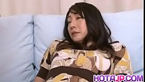 Hot japan girl Junko Izawa play with toys