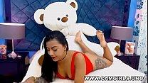 Beautiful inked babe teasing on webcam