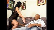 Curvy Asian gives masterful blowjob to black hu...