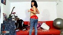 Webcam of slut whore latin brunette