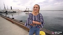 Real Teens - Petite Teen Banged During First Po...