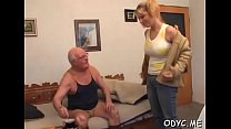 Swingeing gal Natalie with large natural tits g...