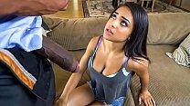 Petite ebony teen needs to satisfy her stepdad ...