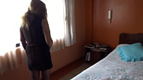 My wife's sister's stepdaughter takes off her c...