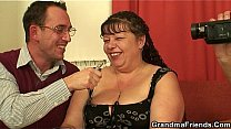 Fat granny and boys teen threesome