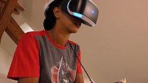 Playstation VR Play of Ebony Teens Dreams in a ...