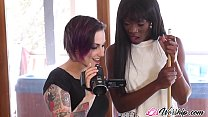 Teeny lesbians get naughty in pussy licking int...