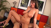 extreme big natural stepmom gets first time rou...