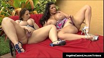 Full figured Cuban Angelina Castro & Curvy Phat...