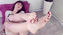 Babe Foot Jerk Off Sex Toy and Blowjob