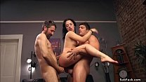 Husband Steve Holmes caught hot brunette wife K...