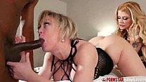 Busty Blonde MILF Interracial 3way