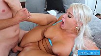Naughty busty blondie girl get her cunt pounded...