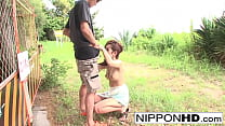 Asian babe loves to blow