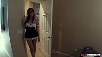 .She surprised her step dad with a hot blowjob ...