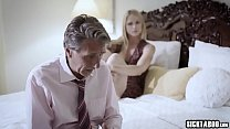 Hot brunette stepdaughter banged by stepfather ...