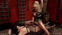 Hot blonde lesbian dom Cherry Torn with big tit...