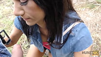 HUNT4K. Outdoor sex with hunter ends for tanned...