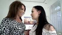 Teen and her Mom's old lesbian friend