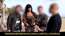 LAS FOLLADORAS – Inked babe with big tits fucke...
