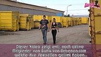 deutsche junge dünne teen schlampe bumst outdoor