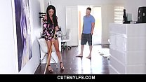 Sexy french MILF sucks off her hot stepson - An...