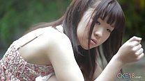 Shy Japanese girl shows us her flawless teen body