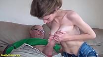 extreme skinny big natural breast stepdaughter ...
