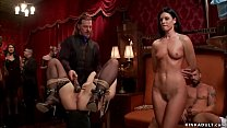 Brunette MILF slave India Summer and young brun...