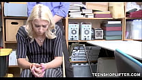 Young Blonde Teen Shoplifter With Small Tits Ma...