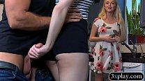 Luscious woman with nice perky boobies gets ban...