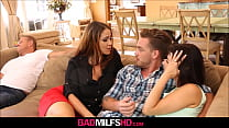 Watch MILF Stepmom Miss Raquel And StepDaughter Penelope Reed Sex With Boyfriend While Dad Naps preview