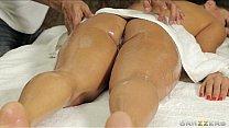 Busty Spanish babe gets a deep tissue massage