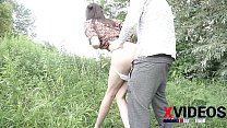 Insatiable tall girl fucks in the park